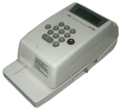 how to use cheque writer machine